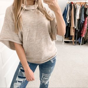 Love Moschino Alpaca Short Sleeve Sweater Neutral